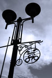 Streetlamp. A decorative streetlamp with sky in blue-gray effect Royalty Free Stock Photos
