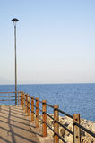 Streetlamp. At the end of the littoral Stock Images