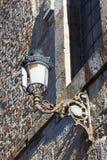 Streetlamp in Espinosa de los Monteros, Burgos Stock Images
