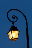 Streetlamp in Fontainebleau Royalty Free Stock Images