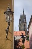 Streetlamp in Meissen Stock Photo