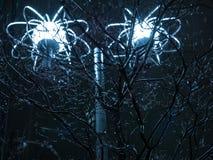 Streetlamp och träd Arkivfoton