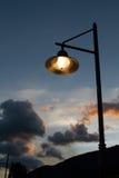 Streetlamp på solnedgången Royaltyfria Bilder