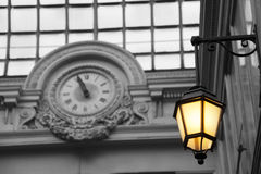 Streetlamp in Paris Stock Photography