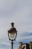 Streetlamp in Paris. Parisian streetlamp against blue sky Stock Image