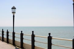 Streetlamp on pier at Worthing. Sussex. England Stock Photography