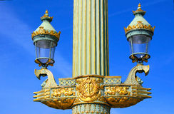 Streetlamp at Place de la Concorde in Paris Stock Photo