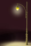 Streetlamp shines. In the darkness Royalty Free Stock Photography