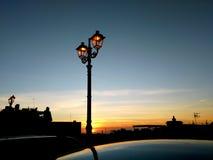 Streetlamp Silhouette Stock Image