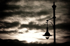 Streetlamp at sunset Stock Photo