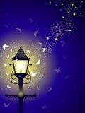 Streetlamp swarm Stock Images