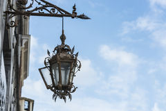 Streetlamp in Tournai, Belgium Royalty Free Stock Photo