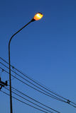 Streetlamp. The streetlamp turn on the light automatically when dark Royalty Free Stock Image