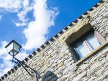 Streetlamp window stone Stock Image