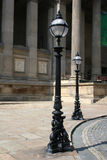 Streetlamps in Liverpool. Lamp posts outside St Georges Hall,Liverpool Stock Image