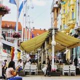 Streetlife, Ζάγκρεμπ στοκ φωτογραφία