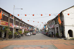 Streetlife в городке Джордж, Penang, Малайзии, Азии Стоковое фото RF
