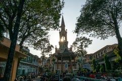 Streetlife - the church in Hochiminh City stock photos