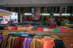 Streetlife - the cotton shop in Hochiminh City stock image