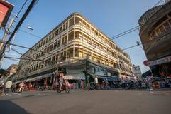 Streetlife - de katoenen winkel in Ho-Chi-Minh-Stad Royalty-vrije Stock Afbeelding