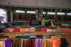 Streetlife - de katoenen winkel in Ho-Chi-Minh-Stad Stock Fotografie