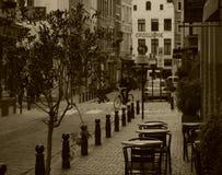Streetlife di Bruxelles di seppia Fotografia Stock Libera da Diritti