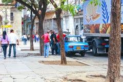 Streetlife i havannacigarren, Kuba Fotografering för Bildbyråer
