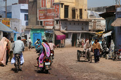 Streetlife in small indian town Stock Images