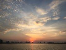 Streetlife, Vietnam, het Leven, Zonsondergang, het Westenmeer Stock Foto