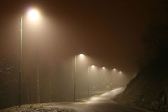Streetlight. Street by night Royalty Free Stock Image