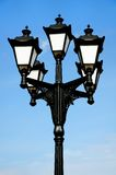 Streetlight against the background of the blue sky Royalty Free Stock Photo