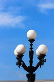 Streetlight. Against the blue sky can be seen streetlight Royalty Free Stock Image