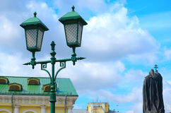 Streetlight against the blue sky. Stock Image