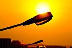 Streetlight against sunset Royalty Free Stock Image