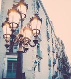 Streetlight in Barcelona Royalty Free Stock Images