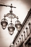 Streetlight in Barcelona Royalty Free Stock Photos