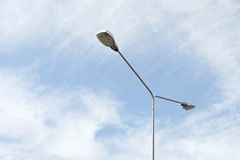Streetlight with beautiful sky background Royalty Free Stock Images