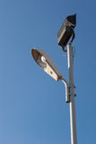 Streetlight. On blue sky background Royalty Free Stock Image