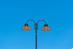 Streetlight with the blue sky background Stock Photography