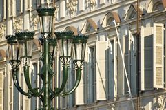 A streetlight characteristic of the center of Turi Stock Image