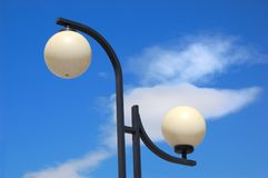 Streetlight and cloud Stock Photos