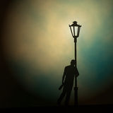 Streetlight drunk Royalty Free Stock Photography