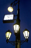 Streetlight with hours Royalty Free Stock Photo