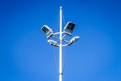 Streetlight i blå sky Royaltyfria Bilder