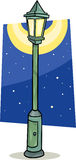 Streetlight lantern cartoon illustration Royalty Free Stock Photo