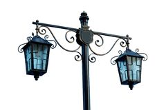 Streetlight na bielu Zdjęcia Stock