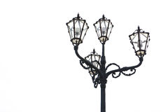 Streetlight of nineteenth century Stock Images