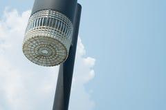 Streetlight. One streetlight on sky background Stock Photos