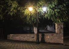 Streetlight på natten Royaltyfri Bild