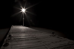 Streetlight of a pier Stock Image